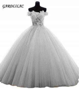 74589afdaec7699 С открытыми плечами розовый Бальные платья бальное платье 2019 Тюль Кружево  Аппликации Vestidos de 15 Anos Пышное сладкий 16 платье для выпускного веч