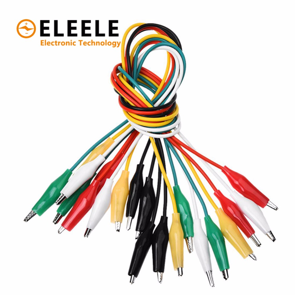 Brand 10PCS Alligator Clips Electrical DIY Test Leads Alligator Double-ended Crocodile Clips Roach Clip Test Jumper Wire DX35 цена