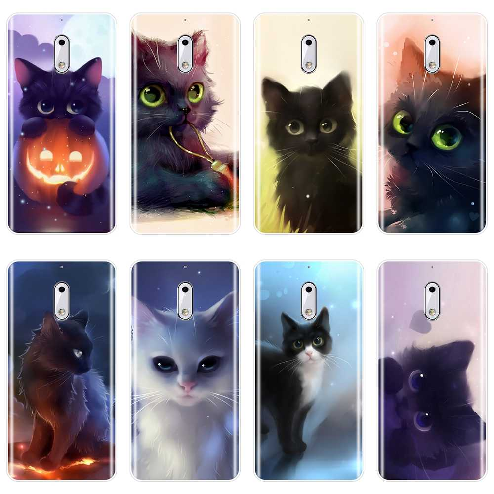 Cute Cat Cartoon Back Cover For Nokia 7 Plus X6 Soft Silicone Case For Nokia 1 2 3 5 6 8 Phone Case
