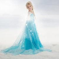 2016 New Summer Elsa Anna Girl Dress For 3 10 Yrs Children Elsa Anna Princess Dresses