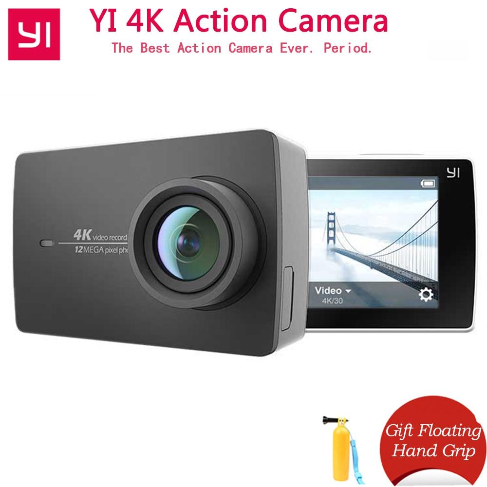 Cadeau tige flottante YI 4 K caméra d'action pour Xiaomi YI Sport Mini caméra Ambarella A9SE bras 12MP CMOS 2.19