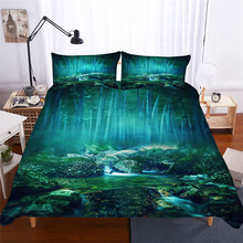 HELENGILI 3D Bedding Set Forest Dreamland Print Duvet Cover Bedcloth with Pillowcase Bed Home Textiles #MJSL-84