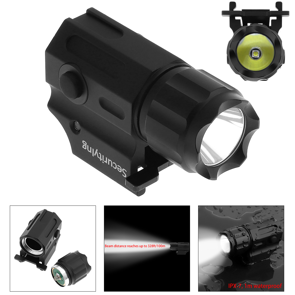 Sale Waterproof G03 XP-G R5 LED 210LM Handheld Military Weapon Lights Pistol Torch Light Tactical Flashlight with 2 Modes Light