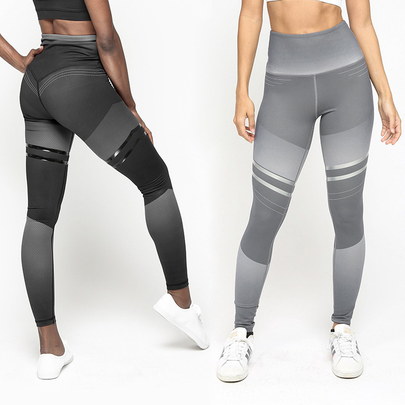 LAISIYI 2019 Printed Leggings Female Sexy Buttocks High Waist Jeggings Plus Size Fitness Leggins Golf Gothic Legging Trousers