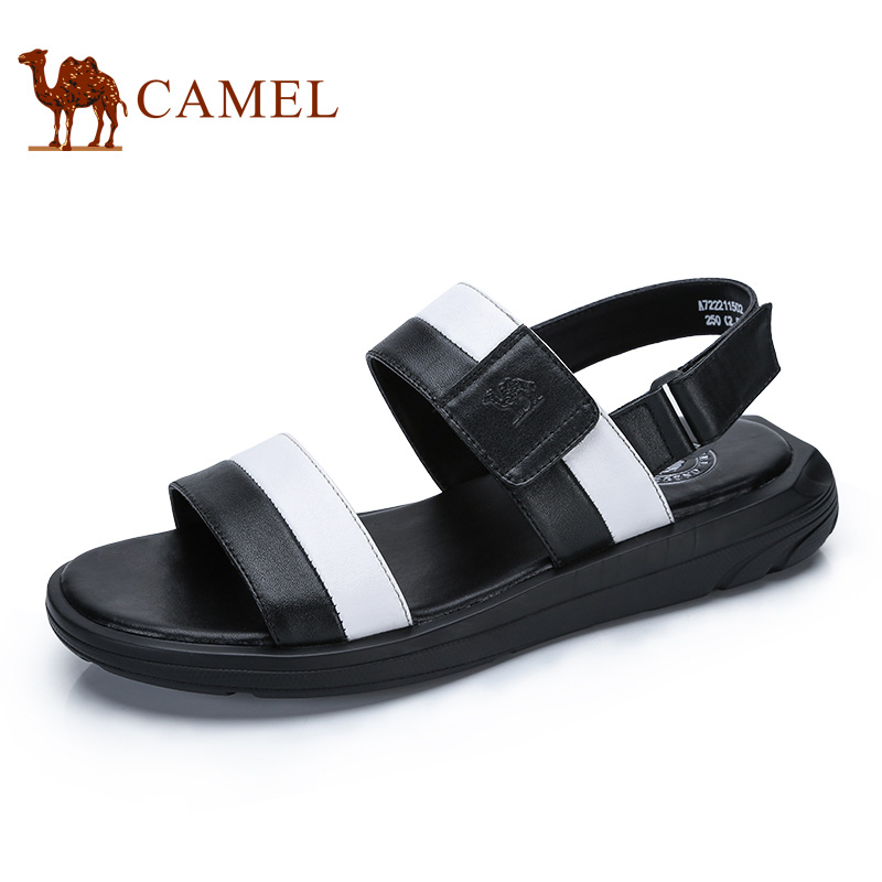 Camel Mens Shoes 2018 Summer New Comfortable Wear-resistant Fashion Casual Sandals Hook&Loop Toe Beach Sandals A722211502
