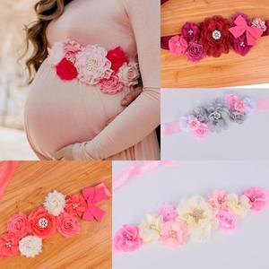 Новое поступление Цветочный Пояс свадебный пояс для беременных детский душ Вечеринка фото реквизит послеродовой пояс для живота свадебный...
