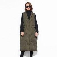 [OL] Winter Autumn New Solid Color Cotton Long Vest Women's Big Size Down Plus Down Vest Women's Sockpuppet Wholesale Z977