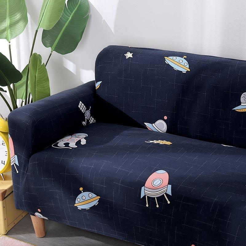 Мультфильм животных диван крышка мебель чехол скольжению ткань спандекс стрейч диван Обложка для односпальной два, три, четыре- сиденье