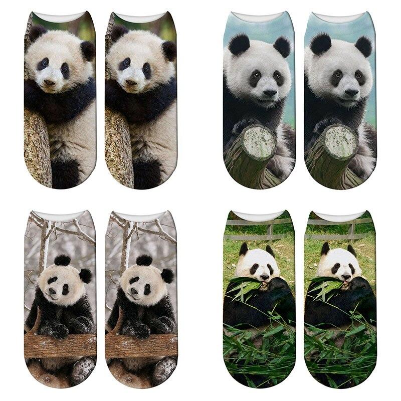 New Fashion 3D Printed Panda Animal Socks Women Child Giant Panda Funny Cotton Short Ankle Socks Kawaii Unisex Cute Sock H-ZWS70