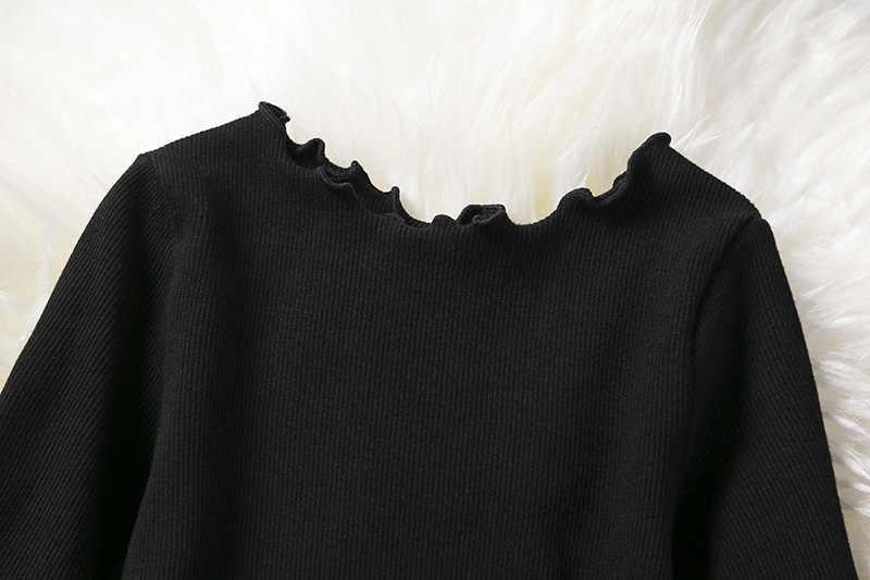 2019 г. осенне-зимнее платье для девочек вязаные платья со звездами с длинными рукавами для девочек Повседневное платье принцессы для подростков одежда для детей от 2 до 6 лет