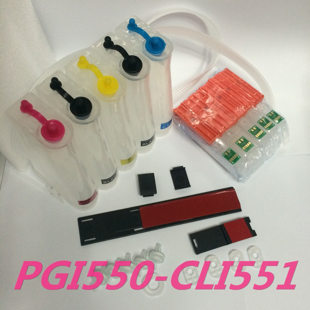 5Color Empty with auto reset chip CISS PGI550 CLI551 XL Continuous Ink Supply System for Canon PIXUS MG5450 MG6350 MX925 printer 5 color ciss system for canon pgi 550xl cli 551xl pgi550 cli551 550 for canon mg5450 ip7250 7250 printer with arc chip