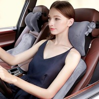 ICAROOM Soft 3D Car Headrest Space Memory Cotton Neck Pillow For Ford BMW For Car For Volkswagen Car Seat Head Neck Pillows