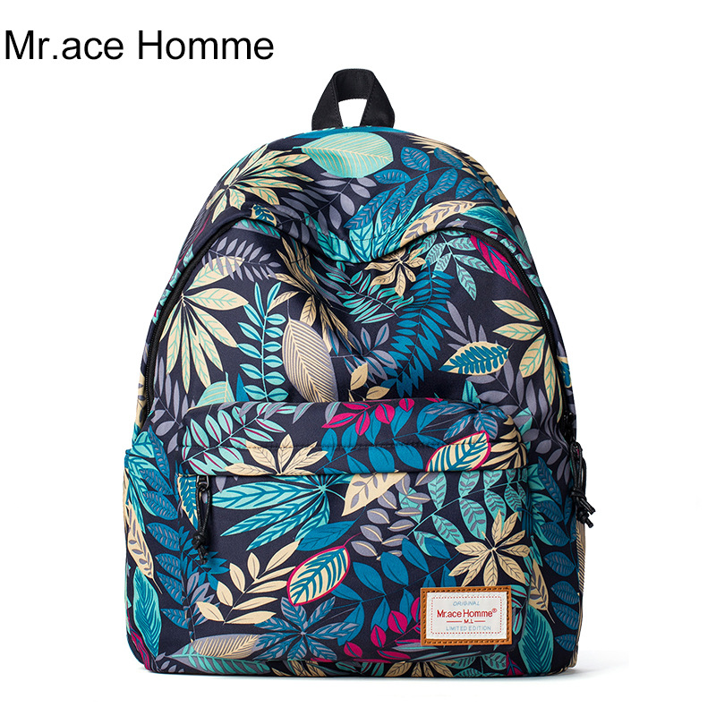 Fashion Casual Printing Lightweight Canvas Women 39 S And Men Backpacks Shoulders School Book