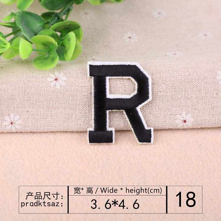 English Alphabet Letter Embroidery Patches DIY hot Melt Adhesive Sew On Brand Cloth Accessories stickers Applique name patches