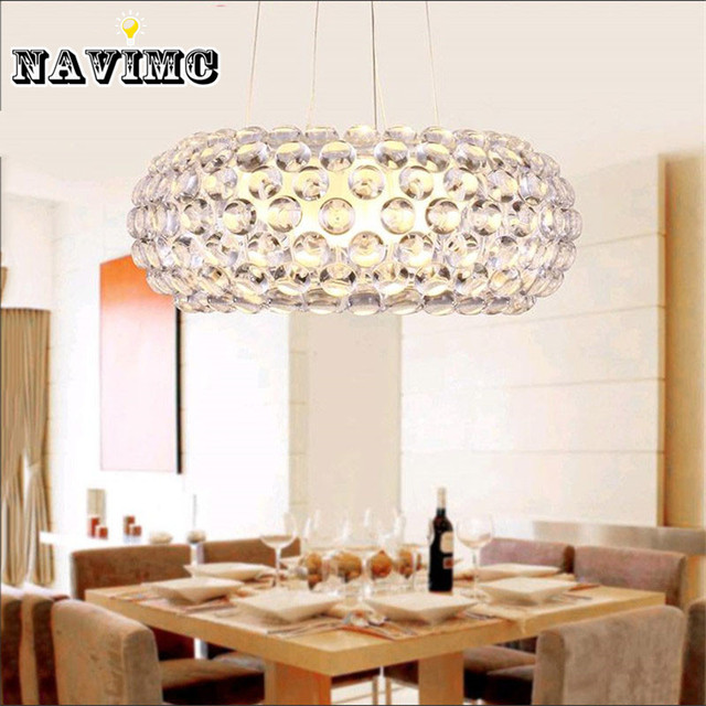 Modern glass pendant lamp transparent balls halogen bulb 650mm modern glass pendant lamp transparent balls halogen bulb 650mm acrylic classical pendant lights for dining room aloadofball Images