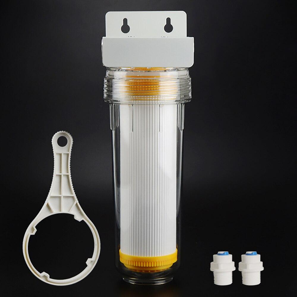10 pouce transparent PET filtre bouteille UDF pré-filtre pour purificateur D'eau protecteur 35 kg explosion-preuve avec DN8 1/4