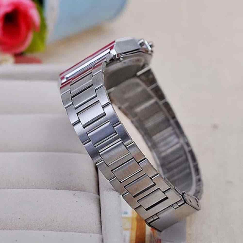 Shshd Digital Quartz Wrist Watches  Led men Sports Watch luminous slim electronic Stainless Steel WristWatch