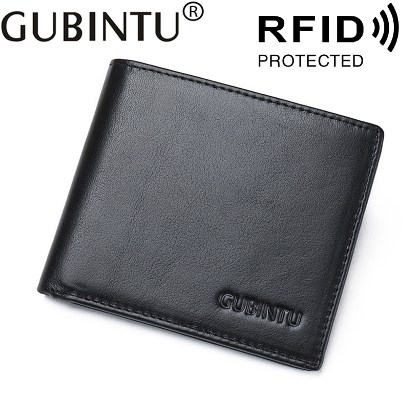 For Cover On Door ID Bank Business Credit Men Card Holder Genuine Leather Cardholder Porte Carte RFID Wallet Purse Case Male Bag