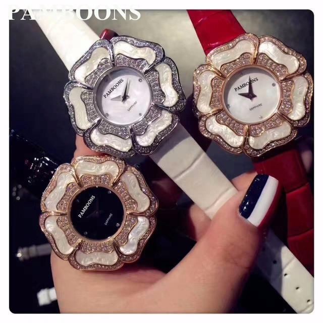 Pearl Scale Crystal Diamond Rolling Bracelet Women's JF Watches Brand Luxury Fashion Ladies Watch Women watch Clock RelogionBenz