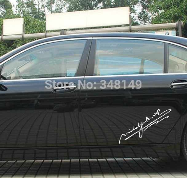 新加入sigature車のステッカーとデカールでマイケル·ジャクソン車スタイリングトヨタladaテスラvwシボレークルーズ
