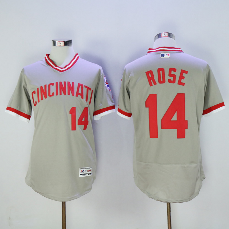 Mens Cincinnati Reds Pete Rose Flexbase Fully Stitched Baseball Jersey