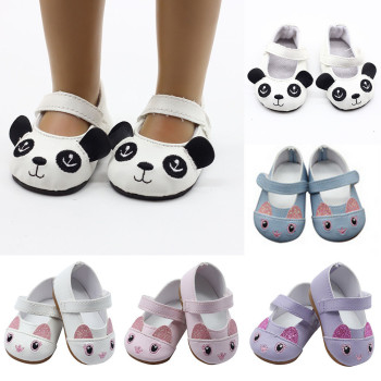 18 inch American Doll Shoes Mini Toy Shoes for 43cm Cute Born Baby Doll 1 Pairs Shoes Doll Accessories mini dolls shoes cartoon cat shoes 7cm pu leather shoes for 43cm doll 18 inch americian doll giant baby accessories girl gift