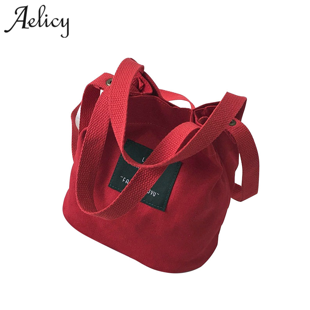 Aelicy New Women Canvas Handbag Single Shoulder Bag Crossbody Messenger Bag Lady Swagger Bag Female Shopping Bags Bucket Pack messenger bag