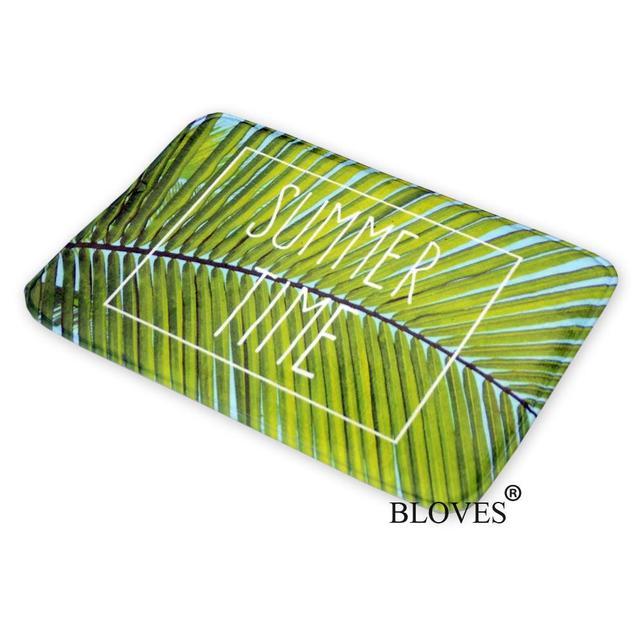 Verano estilo verde hoja de palma piso Esterillas el Bañeras ...