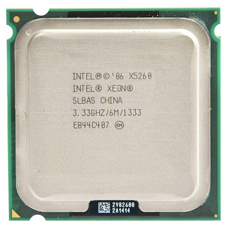 INTEL XONE X5260 dual core 3,3 MHz LeveL2 6 m trabajo en la placa base 775