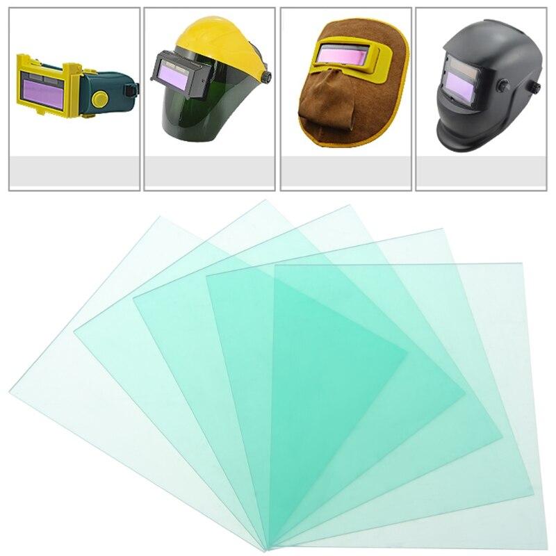 5 Pcs 110x90mm Protective Plastic Plate Auto Dimming Solder Mask Solder Filter Soldering Helmet Electrode Holders