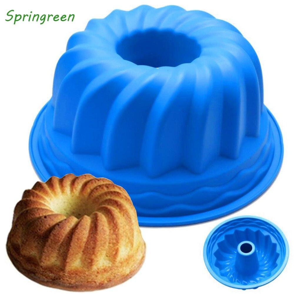 Springreen антипригарной Силиконовые вихревой Bundt кекса, торт хлеб кондитерские изделия, 9 дюймов, 8 дюймов (разные цвета)