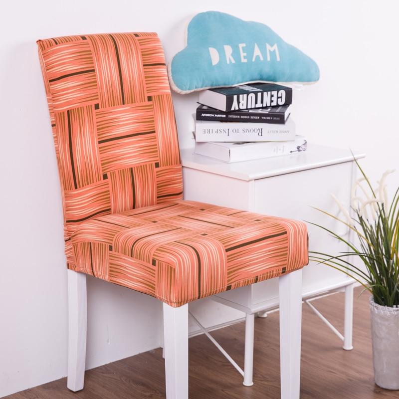 Принт стрейч крышка стула большой эластичный сиденья стульев живопись чехлов ресторан, банкетный отель украшения дома