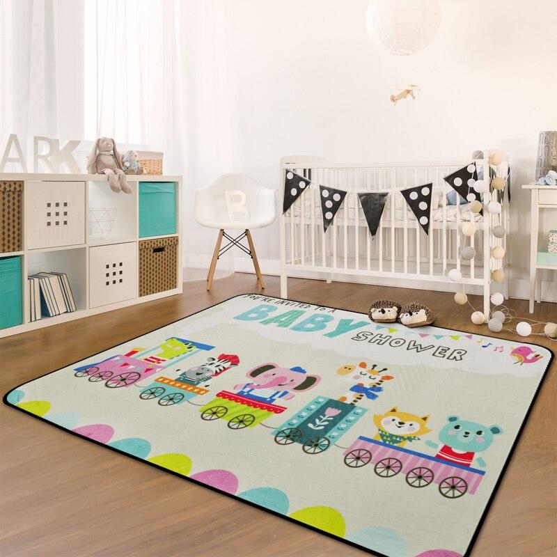 Nordic Cartoon Carpet Kids Room Home Carpet Bedroom Soft Children Tatami Rug Sofa Coffee Table Floor Mat Living Room Area Rugs-in Carpet from Home & Garden    2