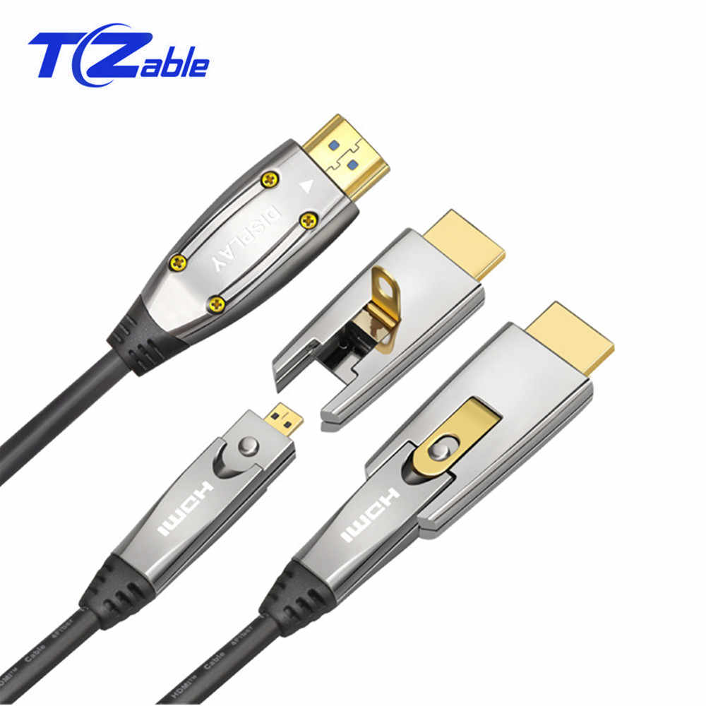 Оптический Кабель HDMI 2,0 4K 60Hz 18 Гбит/с аудио-видео кабель HDMI HDR 4:4:4 без потерь усилитель для PS3 проектор Compute