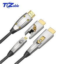 Kabel światłowodowy HDMI 2.0 4K 60Hz 18 gb/s z przewodem Audio wideo HDMI HDR 4:4:4 bezstratny wzmacniacz do projektora PS3 Compute