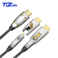 Optical Fiber HDMI 2.0 Cable 4K 60Hz 18Gbps with Audio Video HDMI Cord HDR 4:4:4 Lossless Amplifier for PS3 Projector Compute