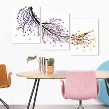 цены Creative Canvas Painting Fingerprint Signature Guest Book Wall Picture Tree Wedding Birthday Activity Party Decoration Gift