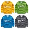 Child fleece sweatshirt 2017 autumn letter print child girls boys sweatshirts top baby pullover sports sweatshirts