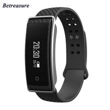 Betreasure BW04 Bluetooth Smart Браслет Heart Rate Мониторы Приборы для измерения артериального давления Спорт Фитнес трекер умный Браслет PK mi Группа 2