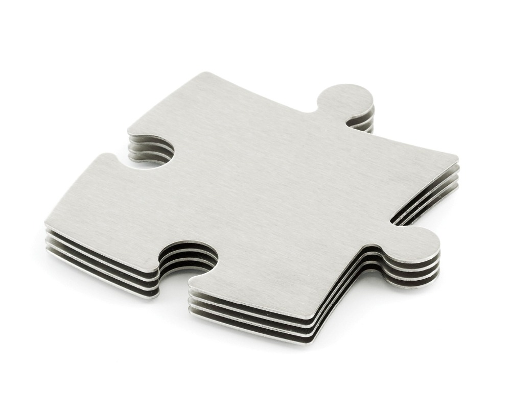 aliexpresscom  buy kitchen  home stainless steel puzzle coaster  - aliexpresscom  buy kitchen  home stainless steel puzzle coastertrivetset of pcs metallic jigsaw puzzlestylish diy puzzle cup mat coasters setfrom