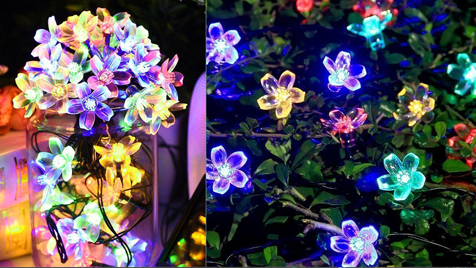 Solar String Lights 3050 LED Garland Outdoor Flower LED String Fairy Christmas Tree Light Party Wedding New Year Decoration (13)