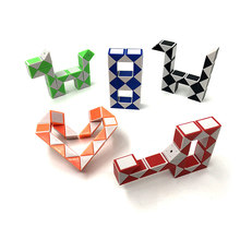 Double Color 24 Segment Mini Magic Ruler Twist Snake Puzzle Children's Educational Toys Hot Selling(China)
