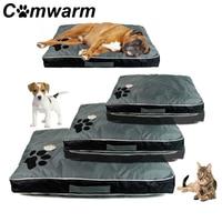Comwarm Washable Big Dog Bed Pet Soft Large Dog Cushion Kennel Paw Design Pet Cozy Sofa Puppy Mat Cat Bed Sofa Pet Bedding
