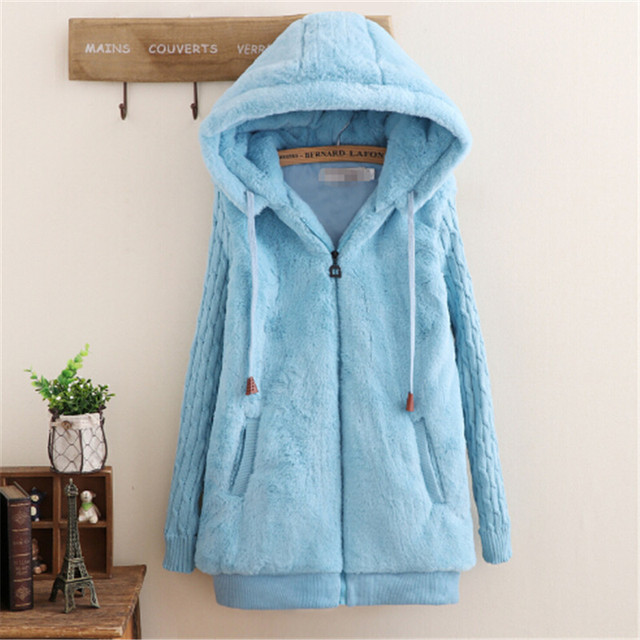 1a834f99cde2c College wind fall and winter clothes plus thick velvet girl student cute  plush jacket