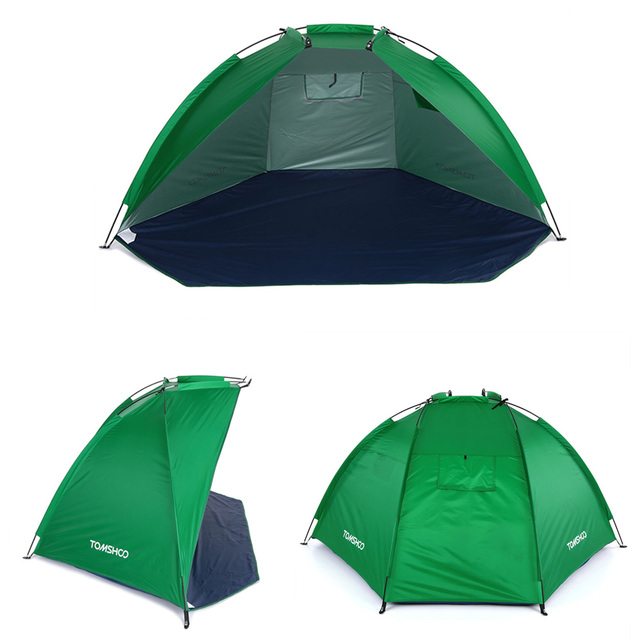 Outdoor Beach Tent Sunshine Shelter 2 Person Sturdy  170T Polyester Sunshade Tent for Fishing Camping Hiking Picnic Park