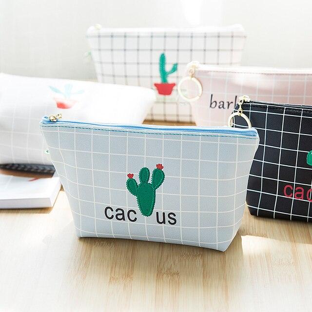 Cactus árbol patrón algodón almacenamiento organizador bolsa de ...