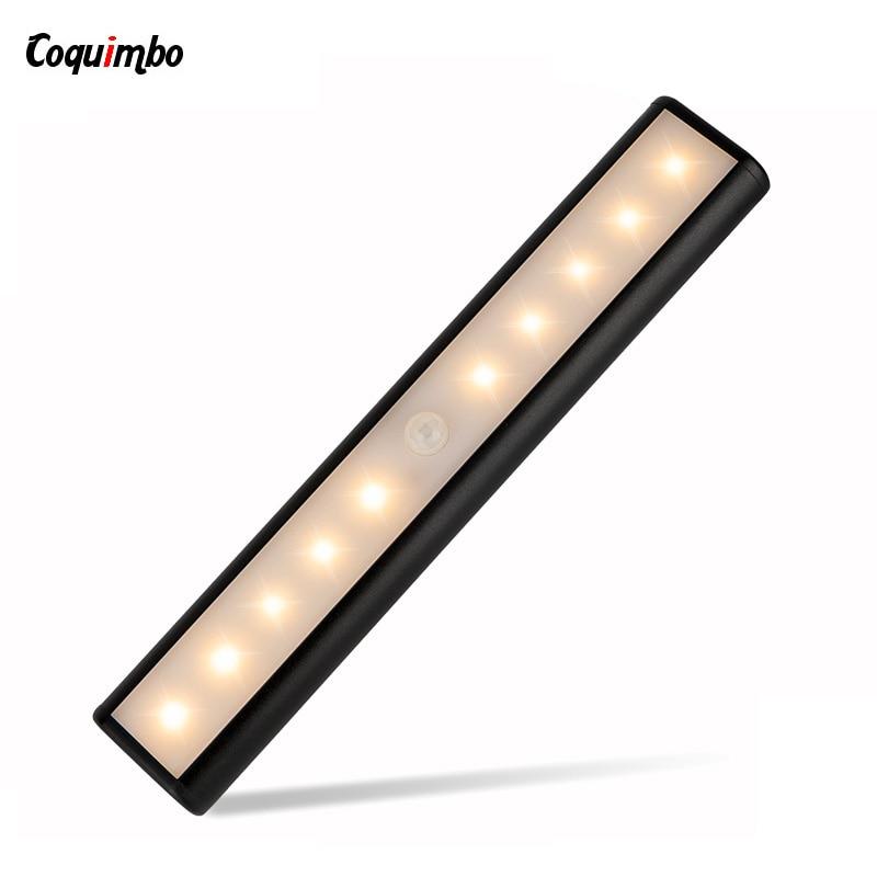 LED light Wireless Wall Lamp Sensor Light 10ft Sensing Auto PIR Detector cabinet light with Magnetic