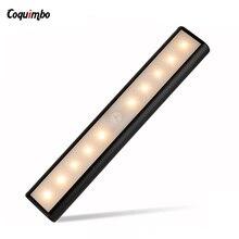 LED light Wireless Wall Lamp Sensor Light 10ft Sensing Auto PIR Detector cabinet light with Magnetic built battery Night Light