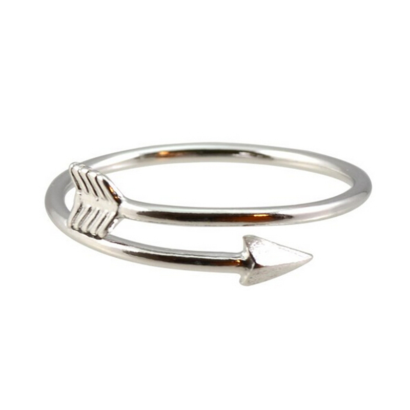 1pc punk adjustable gold color ring vintage arrow wrap for Jewelry storm arrow ring