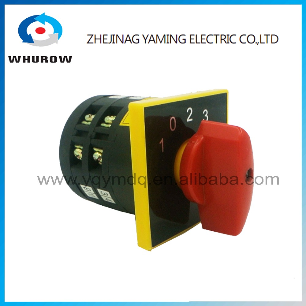 Rotary switch 5 positions LW6-2/D25Z changeover cam universal switch 380V 5A 2 pole 12 terminals sliver contacts red handle thgs 8 terminals 5 positions master control rotary cam switch 20a black blue